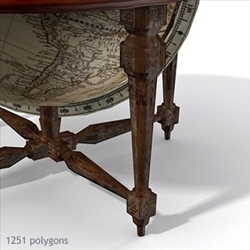 antique globe table 3d model max x other 93100