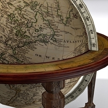 antique globe table 3d model max x other 93101