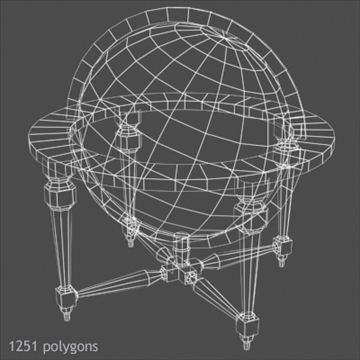 antique globe table 3d model max x other 93102