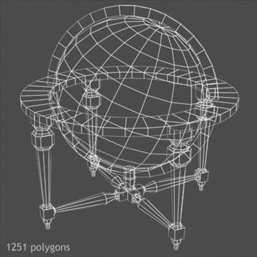 antik globe masa 3d model max x digər 93102