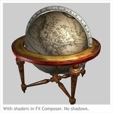 antik globe masa 3d model max x digər 93104