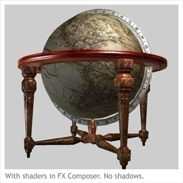 antique globe table 3d model max x other 93105
