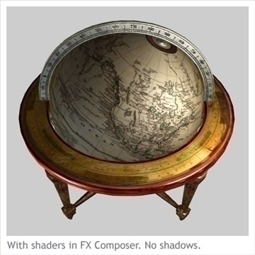 antique globe table 3d model max x other 93106