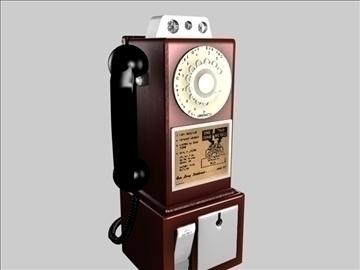 antique payphone 3d model 3ds c4d texture 109129