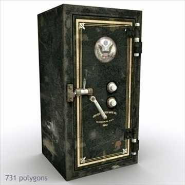 antique safe 3d model max x other 93107