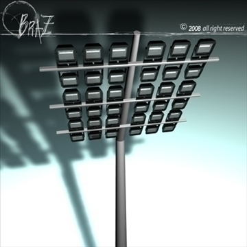 arena lights 3d model 3ds dxf c4d obj 88118