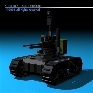 army recon robot 3d model 3ds dxf c4d obj 88303
