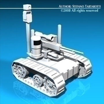 army recon robot 3d model 3ds dxf c4d obj 88304