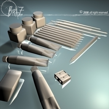artist tools 3d model 3ds dxf c4d obj 87804