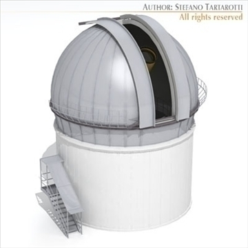 astronomic telescope 3d model 3ds dxf c4d obj 105979