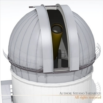 astronomic telescope 3d model 3ds dxf c4d obj 105980