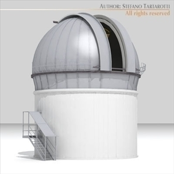 astronomic telescope 3d model 3ds dxf c4d obj 105981