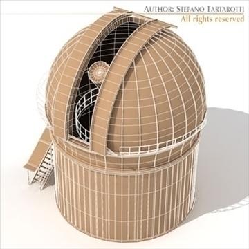 astronomski teleskop 3d model 3ds dxf c4d obj 105982