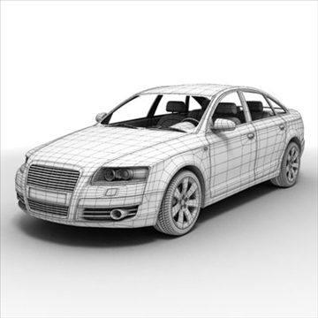 audi a6 car 3d model 3ds max lwo ma mb obj 85792