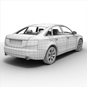 audi a6 car 3d model 3ds max lwo ma mb obj 85793