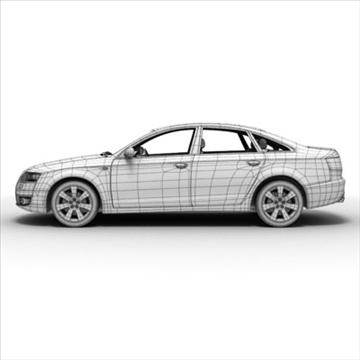 audi a6 car 3d model 3ds max lwo ma mb obj 85795