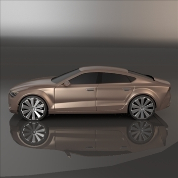 audi a7 sportback 3d model 3ds blend obj 106687