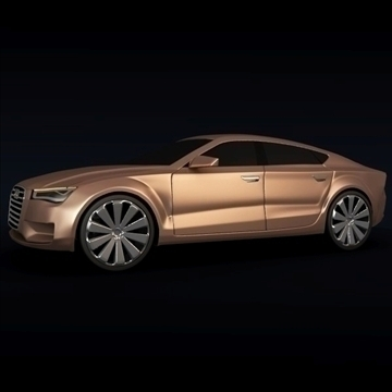 audi a7 sportback 3d model 3ds blend obj 106690
