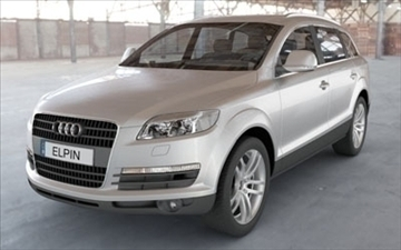 audi q7 2007 3d model 3ds lwo ma mb obj 85885