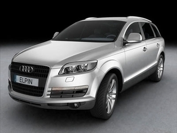 audi q7 2007 3d model 3ds lwo ma mb obj 85886