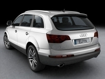 audi q7 2007 3d model 3ds lwo ma mb obj 85887