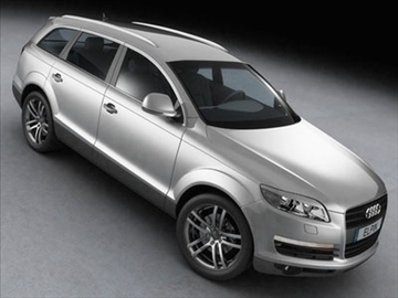 audi q7 2007 3d model 3ds lwo ma mb obj 85888