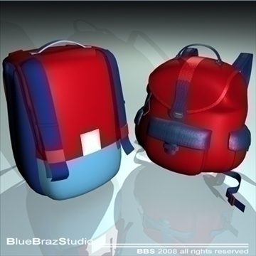 backpack 2 3d model 3ds dxf c4d obj 94074
