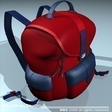 backpack 3d model 3ds dxf c4d obj 94069
