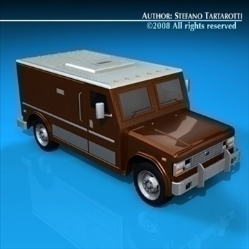 bank truck 3d model 3ds dxf c4d obj 89307
