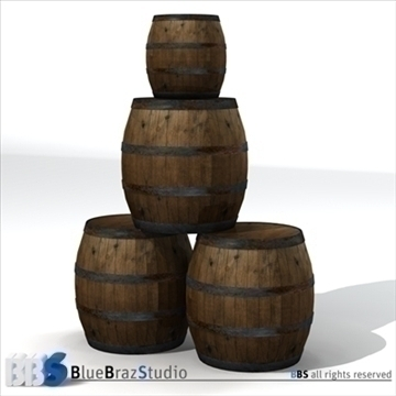 barrels 3d model 3ds dxf c4d obj 106910