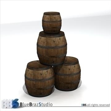 barrels 3d model 3ds dxf c4d obj 106911