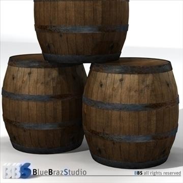 barrels 3d model 3ds dxf c4d obj 106912