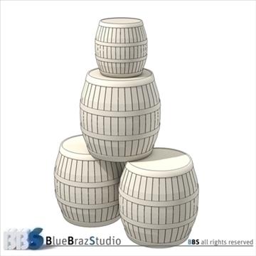 barrels 3d model 3ds dxf c4d obj 106914