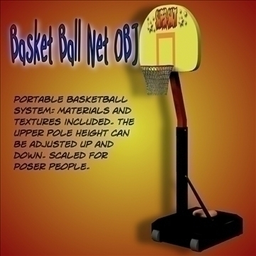 basketballnet.obj 3d model obj 105757