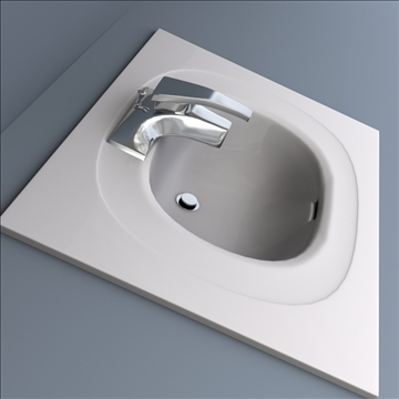 bath sink 3d model 3ds max lwo hrc xsi obj 104470
