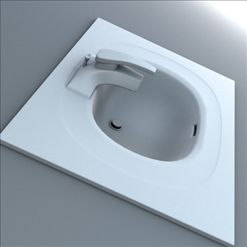 bath sink 3d model 3ds max lwo hrc xsi obj 104471