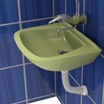 bathroom scene 3d model 3ds fbx blend obj 106704