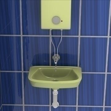 bathroom scene 3d model 3ds fbx blend obj 106705