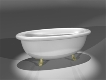 bathtub 3d model 3ds dxf lwo 81029