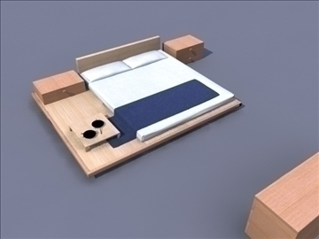 bedroom set 3d model ma mb obj 82933