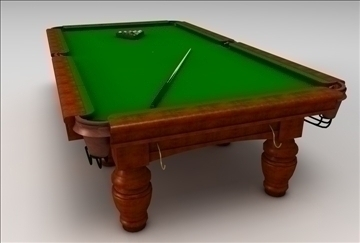 billiards table 3d model 3ds c4d texture 109254