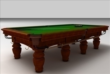billiards table 3d model 3ds c4d texture 109255