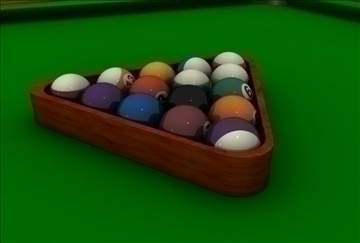 billiards table 3d model 3ds c4d texture 109257
