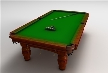 billiards table 3d model 3ds c4d texture 109258