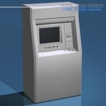 biometriskais atm 3d modelis 3ds cits obj 77525