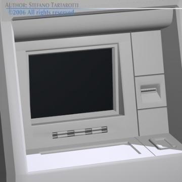 biometriskais atm 3d modelis 3ds cits obj 77526