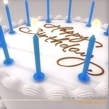 birthday cake 3d model 3ds dxf c4d obj 101544