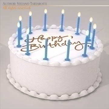 birthday cake 3d model 3ds dxf c4d obj 101548