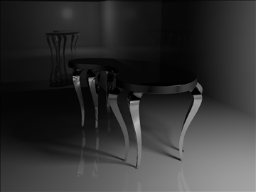 black and silver table 3d model 3ds 98832