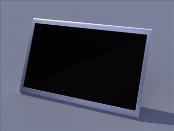 black computer monitor with stand 3d model ma mb obj 82755